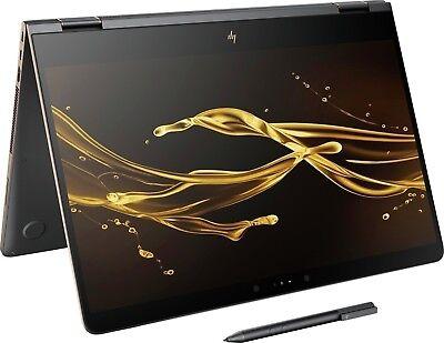 "HP Spectre x360 15 15.6"" 4K UHD TouchScreen Laptop i7-8550U 8GB 256GB SSD W10"