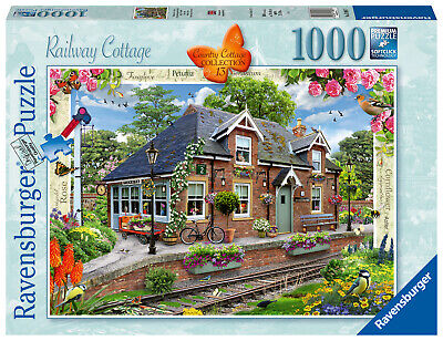 RAVENSBURGER PUZZLE*1000 TEILE*COUNTRY COTTAGE 13*RAILWAY COTTAGE*RARITÄT*OVP