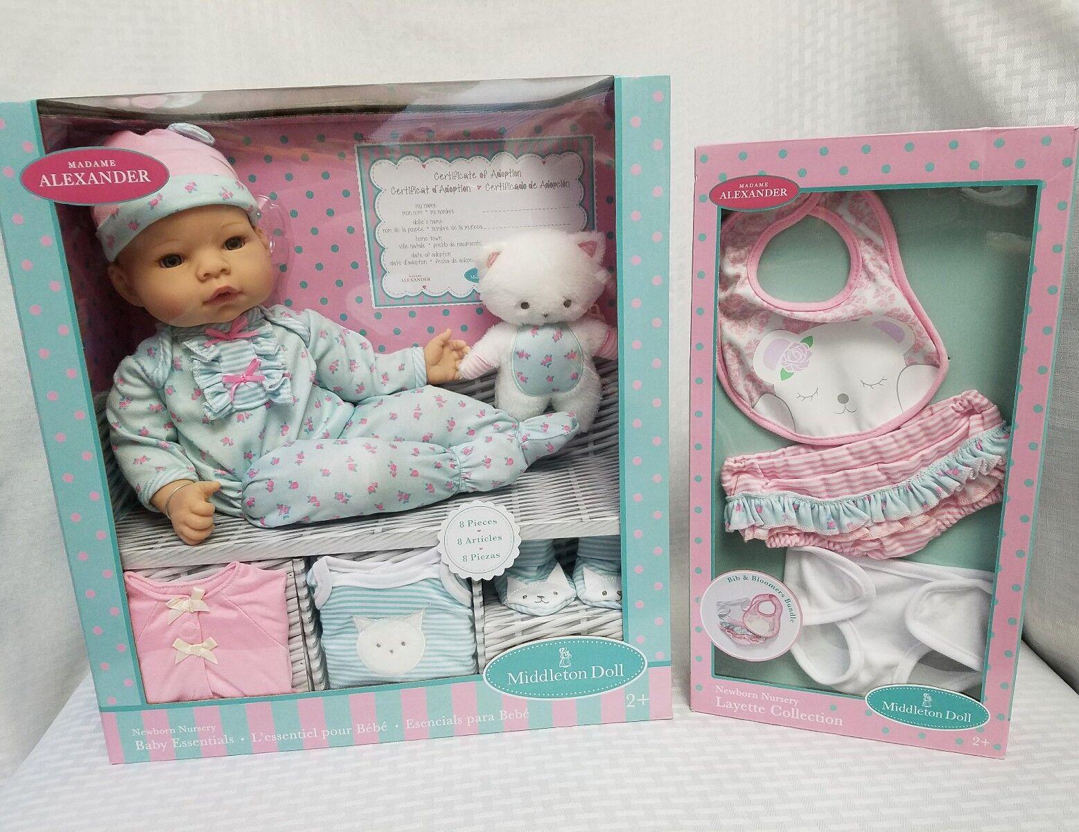 Madame Alexander Essentials Newborn Baby Doll - Blue