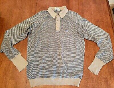 Izod Lacoste Vtg Orlon Acrylic Pullover Light Sweater Size M Super Soft Striped