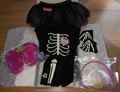 NIB ~American Girl SKELETON OUTFIT~ Truly Me Halloween Costume Glow-in-the-Dark