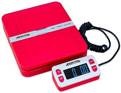 Accuteck Shippro W-8580 110lbs X 0.1 Oz Red Digital Shipping Postal Scale