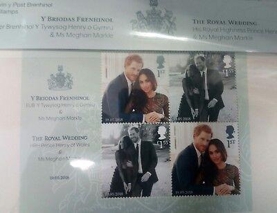 Prince Harry and Meghan Markle Royal mail Wedding Stamps UK Presentation Pack