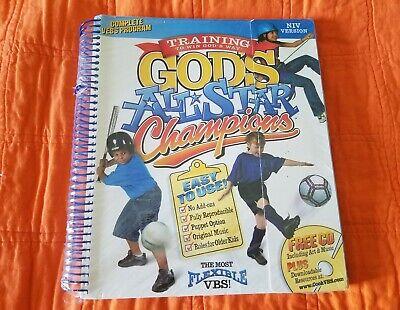 VBS God's All Star Champions Sports Book NIV Program Soccer Baseball Bicyling (Vbs Programs)