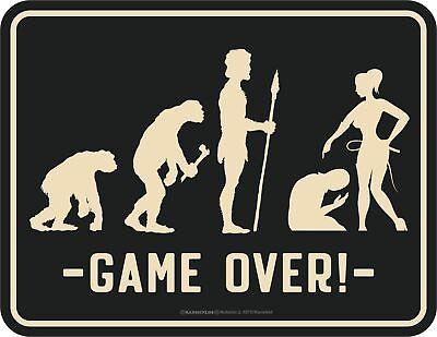 Boda Letrero - Evolución Ehe-Mann - Game Over - Cartel de Chapa...