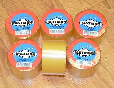 6 Rolls Six Pack Matman Clear Vinyl Wrestling Mat Tape M-75 3