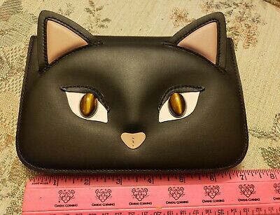 KATE SPADE - X - CATS - Leather & Stone Eyes Cat Pouch - VERY RARE - SOLD OUT (Kate Spade Eyes)