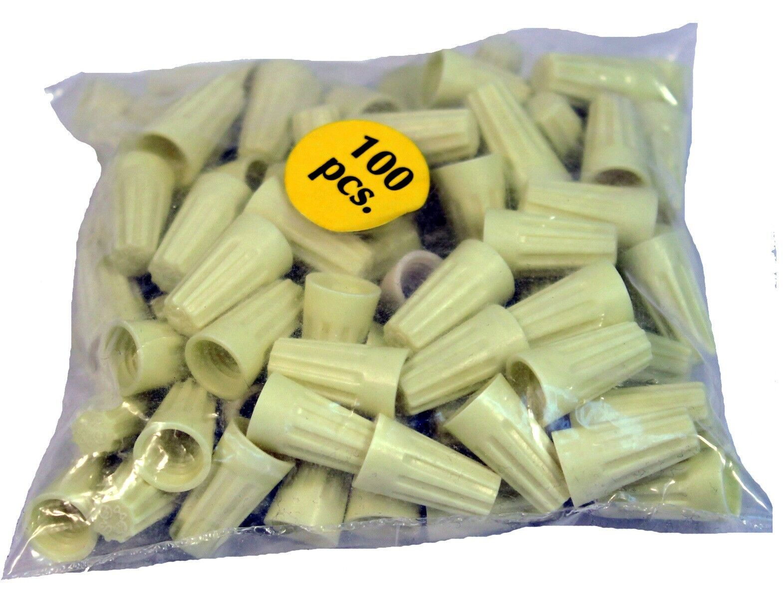 100 Thermoplastic Medium Wire Connector Nuts for 3-4 Wires, Lamp Parts Business & Industrial