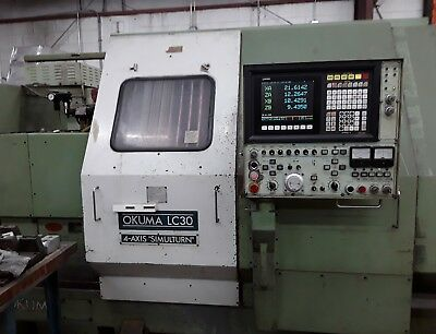 Okuma Lc30 Cnc 4 Axis Lathe Excellent Condition - Under Power Video Added 219