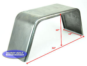 Steel Square Utility Trailer Fender Jeep Style 10