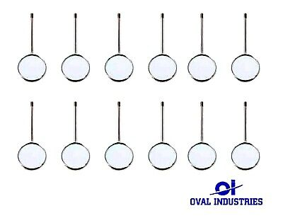 12 Pcs Dental Mouth Mirror Heads Cone Socket 4 Plain - Stainless Steel