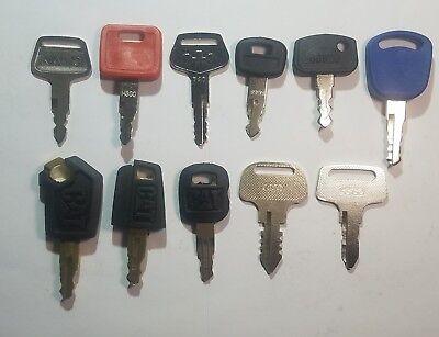 11 Keys Catvolvo Hitachi John Deere Komatsu Kobelco Kato Jd Kubota...