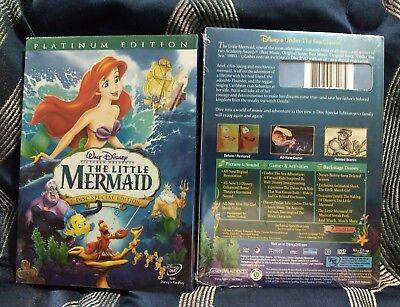 The Little Mermaid  Dvd  2006  2 Disc Set  Platinum Edition  Factory Sealed