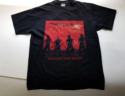 VTG 1996 Sepultura Roots Bloody Roots Tour Concert Cavalera T Shirt GILDAN repro