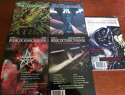 Call of Cthulhu RPG Book of Dark Wisdom issue 1 through 5 book lot!
