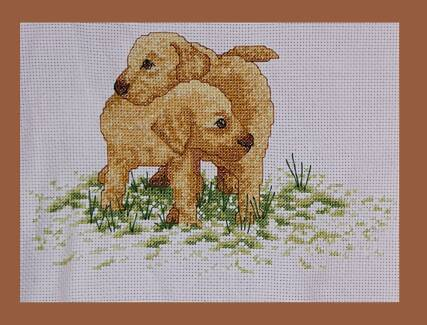 Lab Puppies - Tapestry (hand made) Pakenham Cardinia Area Preview