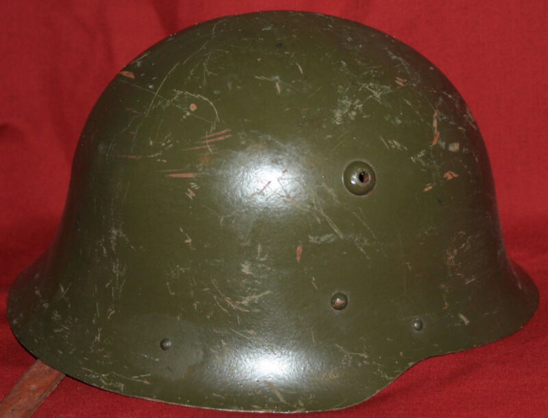WWII WW2 Bulgarian M36 Model 1936 Military Steel Helmet