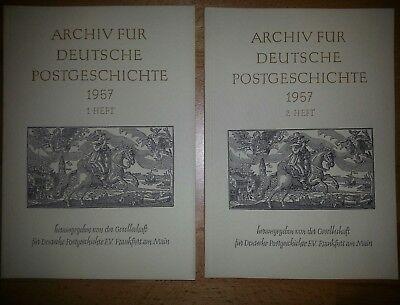 Archiv für Deutsche Postgeschichte 1957 1. Heft und 2. Heft