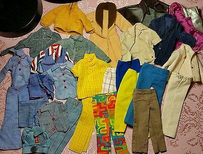 Vintage ken doll mod clothing lot
