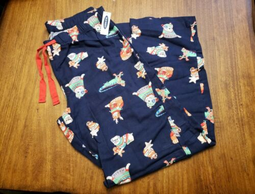 OLD NAVY Flannel Women's Christmas Pajama Pants with Cats &