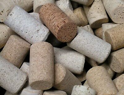 100 wine corks BLANKS only. Agglomerated variety very nice free us shipping