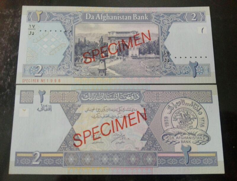 AFGHANISTAN 2AFG.SPECIMEN BANKNOTE UNC.