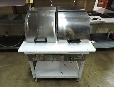 Duke Wb302 Two Comp Steam Table W Roll Cover Hose - Lp