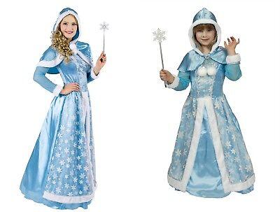 Schneekönigin Eisprinzessin Winter Königin Damen Mädchen Kinder Kostüm NEU