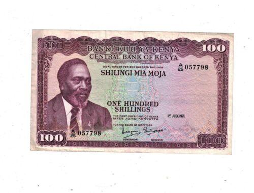 Kenya 100 Shillings 1971 PB1