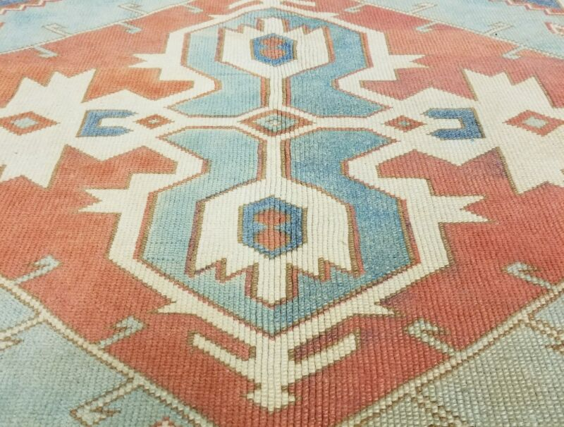 Masterpiece Antique 1930-1940s Muted Dyes 7x9ft Wool Pile Armenian Oushak Rug
