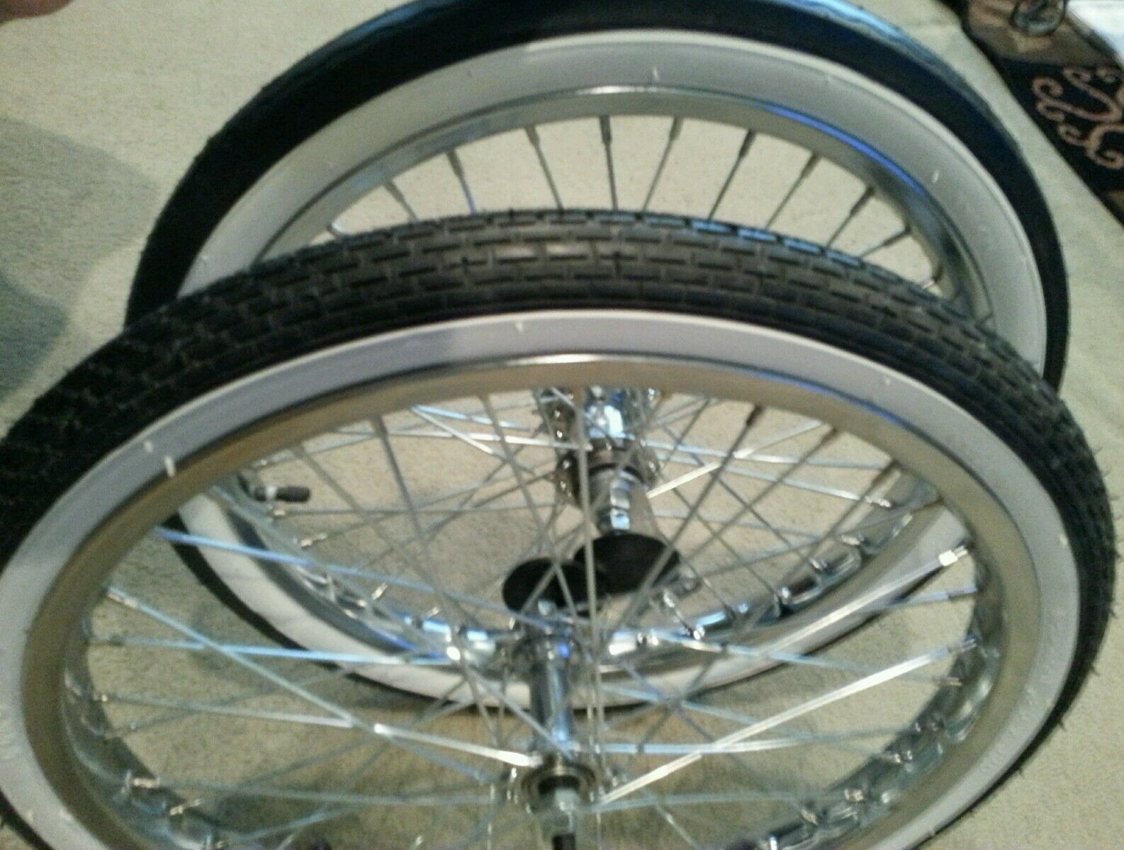"NEW 20""BICYCLE RIMS TIRES & TUBES, WORKS ON SCHWINN STINGRAY"