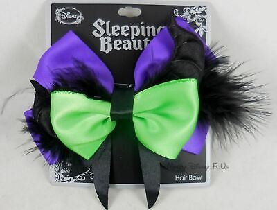 New Disney Sleeping Beauty Maleficent Cosplay Hair Bow Pin Clip Costume Dress Up - Sleeping Beauty Maleficent Costume
