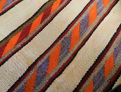 Antique Navajo Childs Blanket Rug Native American Weaving 50x33 1890