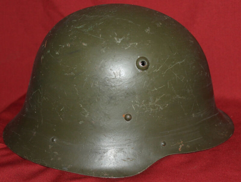 WWII Bulgarian M36 Model 1936 Military Steel Helmet