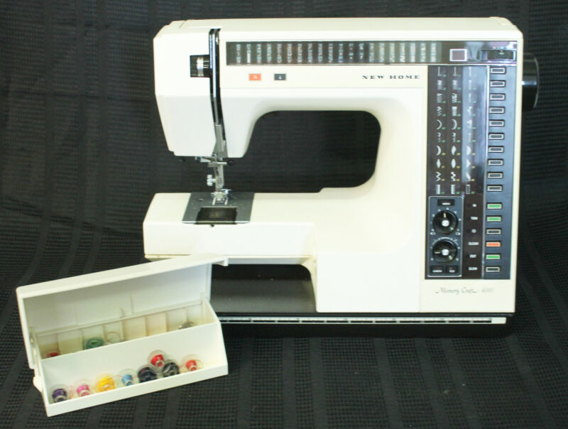 New Home Memory Craft Sewing Machine with case *for Parts*