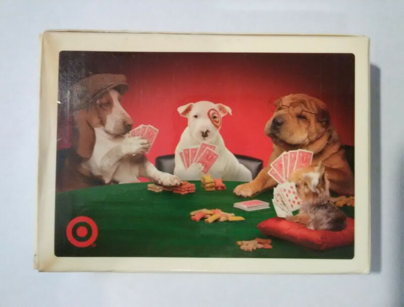 2005 TARGET STORE DOGS GAMBLING CARD DECK GREAT FOR ANY COLLECTION 2005!