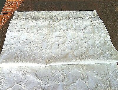 Window Curtains 1 Panel White Floral Rod Pocket Shades Handmade Weave (Baby Sunglasses Canada)