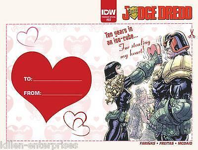 Judge Dredd Ongoing #3 Valentinstag Karte Variante Comicbuch 2016 - IDW ()