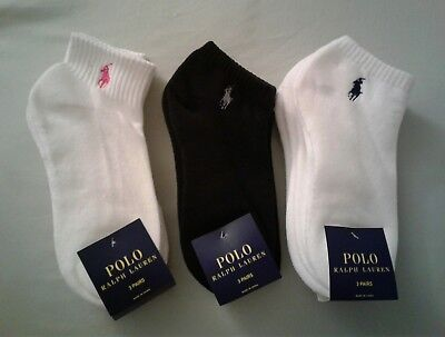 9 Pair of New Women Polo Ralph Lauren Athletic Socks