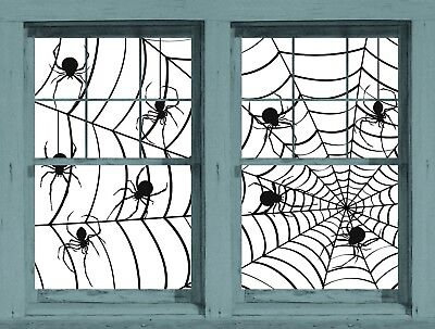 Make a Scene Spiders and Webs Wowindow Window Poster Halloween Decoration NEW
