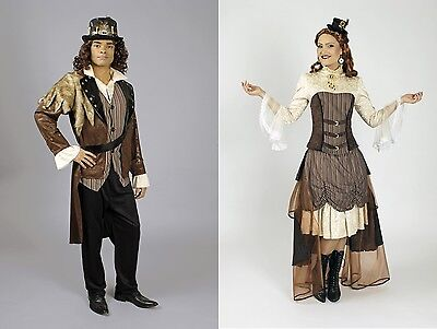 Kostüm Steampunk Viktoria u. Phileas o. Hut Damen Saloon Girl 19. - Saloon Girl Kostüm