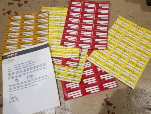 LOT OF 7 CASE IH SERVICE OIL TRANSMISSION FLUID SERVICE LUBRICANT DECALS