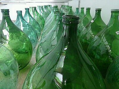 Antique Italian Green Demijohn Huge carboy Wine Making GIANT BOTTLE 250 availabl