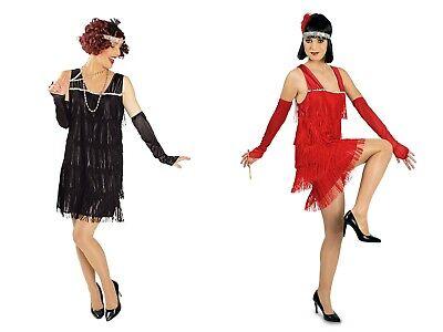 20er Jahre Kleid Kostüm (Charleston Kleid Damen Kostüm  20 er Jahre m. Handschuhen u. Stirnband)