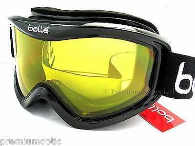 BOLLE medium-large MOJO Ski Snowboard Goggles Shiny Black / Yellow CAT.1  20573