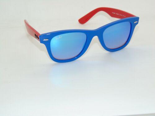 Ray Ban Jr. RJ 9066S 7039/B7 Wayfarer Blue/Red Kids Mirrored Sunglasses