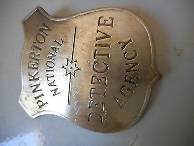 PINKERTON NAT'L DECT. AGENCY (COLLECTABL BADGES OF THE  OLD WEST) FREE SHIPPING