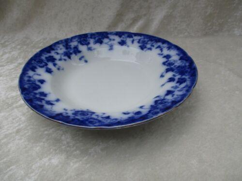 Antique Burgess & Leigh Burslem Vermont Flow Blue Soup Bowl/Deep Plate