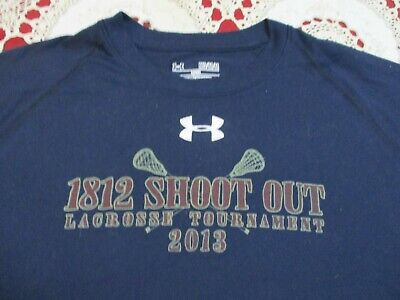 1812 SHOOT OUT LACROSSE TOURNAMENT 2013 UNDER ARMOUR LOOSE ATHLETIC SHIRT- MED