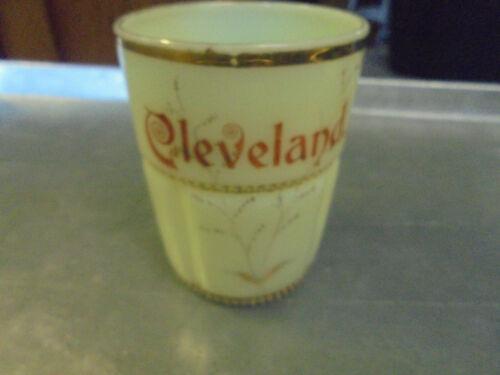 Vintage Cleveland Custard Glass tumbler Minnesota Ohio